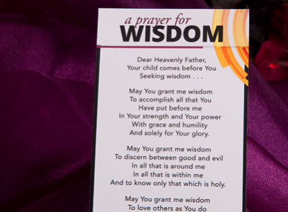 FREE Prayer for Wisdom Bookmar...