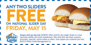 FREE White Castle Sliders...