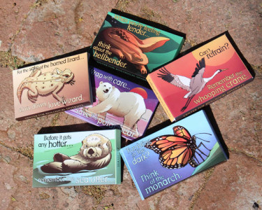 Endangered species condoms images are free for media use courtesy of the Center for Biological Diversity Art by Shawn DiCriscio Package design by Lori Lieber