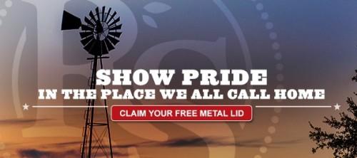 FREE Patriotic Metal Lids...