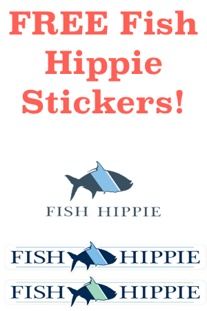 Free stickers snag free samples for Fish hippie sticker