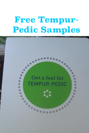 Free Tempur-Pedic Material Sample & Product Guide - Snag Free Samples