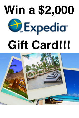 Win a $2000 Expedia Gift Card - Snag Free Samples