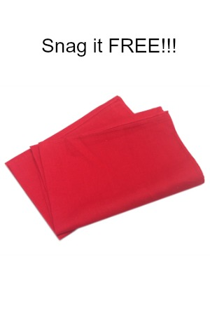 Snag a FREE red prayer cloth from the CFaN network today