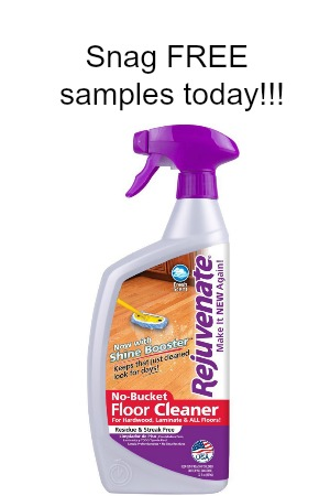 snag free samples of rejuvenate cleaning products