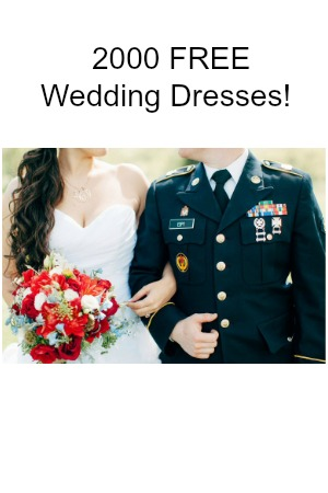 2000 free wedding dresses for military spouses snag for Free wedding dresses for military brides